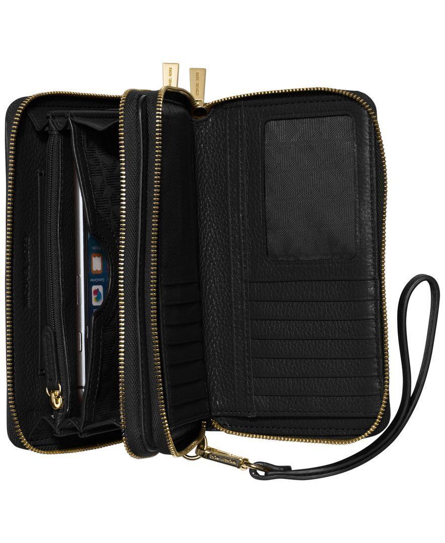 94e94a62efa1 MICHAEL Michael Kors Adele Double-Zip Wallet - Wallets Wristlets - Handbags  Accessories - Macys