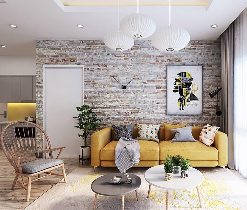 41 Elegant Modern Interiors With Brick Wall Ideas For Your