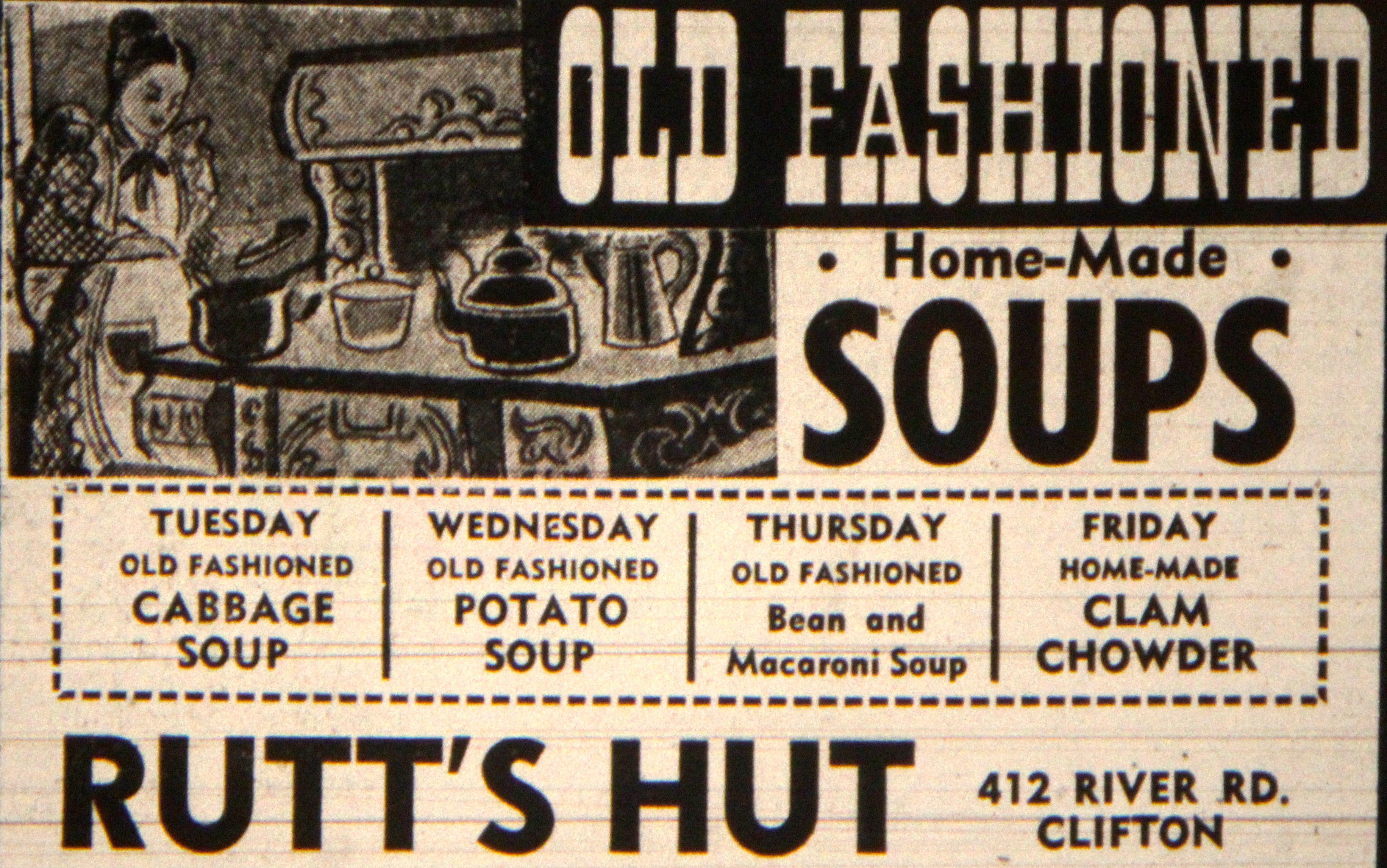 Rutt S Hut Ad Clifton Nj 1968 Clifton Paterson New Jersey