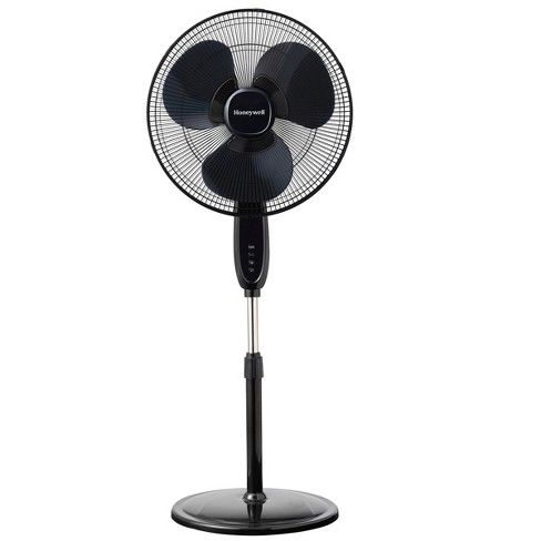 Honeywell 16 Stand Fan With Double Blades Black Stand Fan