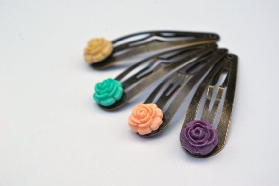 Quarto Snap Hair Clip by piecesofaprilmel on Etsy, $9.25
