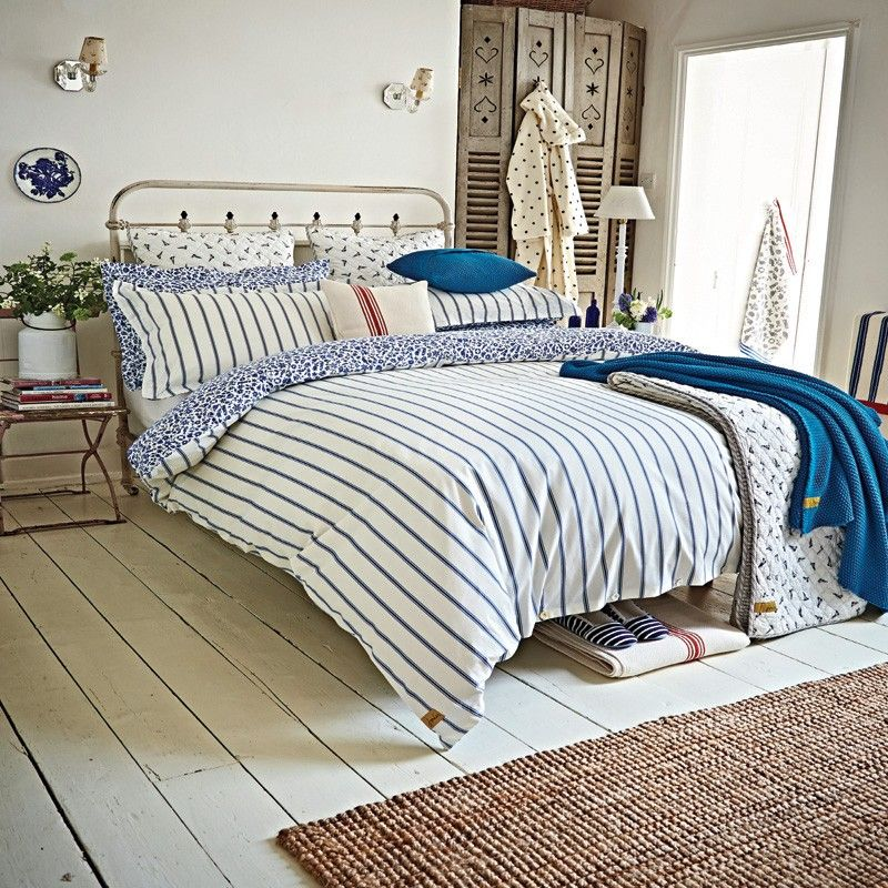 Nautical Themed Bedding Joules Sea Ditsy Blue Striped