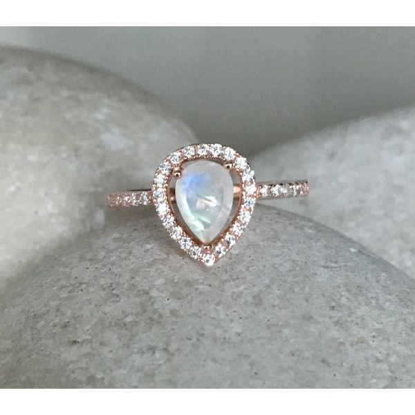 rainbow moonstone engagement ring rose gold wedding ring moonstone promise halo ring june birthstone ring solitaire gemstone ring - Moonstone Wedding Rings