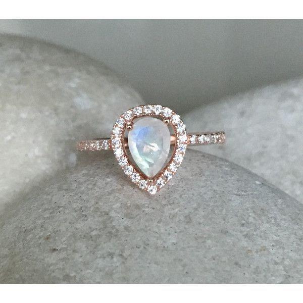 rainbow moonstone engagement ring rose gold wedding ring moonstone promise halo ring june birthstone ring solitaire gemstone ring - Moonstone Wedding Rings