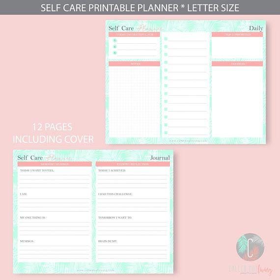 Self Care Planner Workbook Wellness Self Care Planner