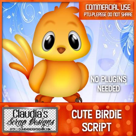 Cute Birdie Script CU