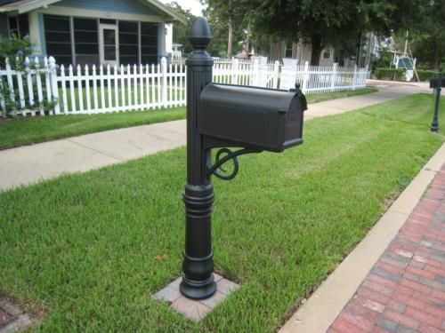Gibraltar mailboxes stratford decorative plastic mailbox for Unique mailboxes with post
