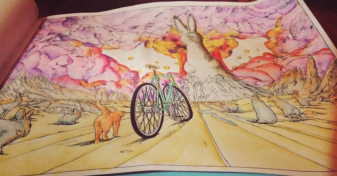 the bicycle coloring book journey to the edge of the world by shan jiang - Bicycle Coloring Book