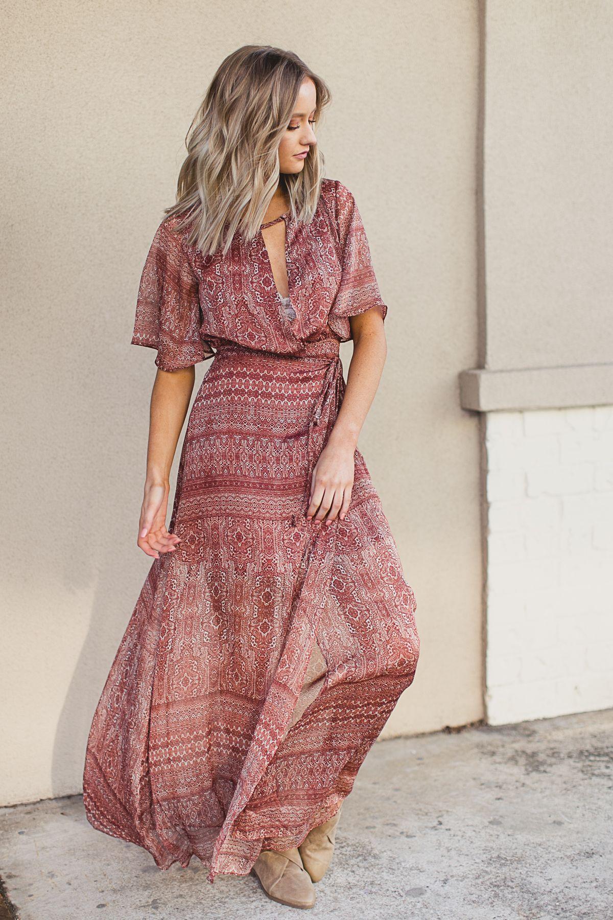 Maxi dresses 2018 trend