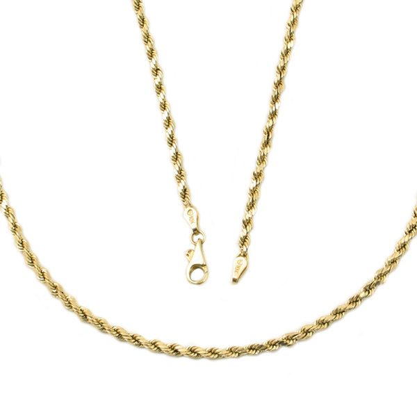 Long 10k Gold Rope Chain Necklace Vintage Gold Chain 24 5 Quot Faceted Rope Chain Necklace In 10k Gold Wit Buy Gold Necklace Gold Rope Chains Gold Chains