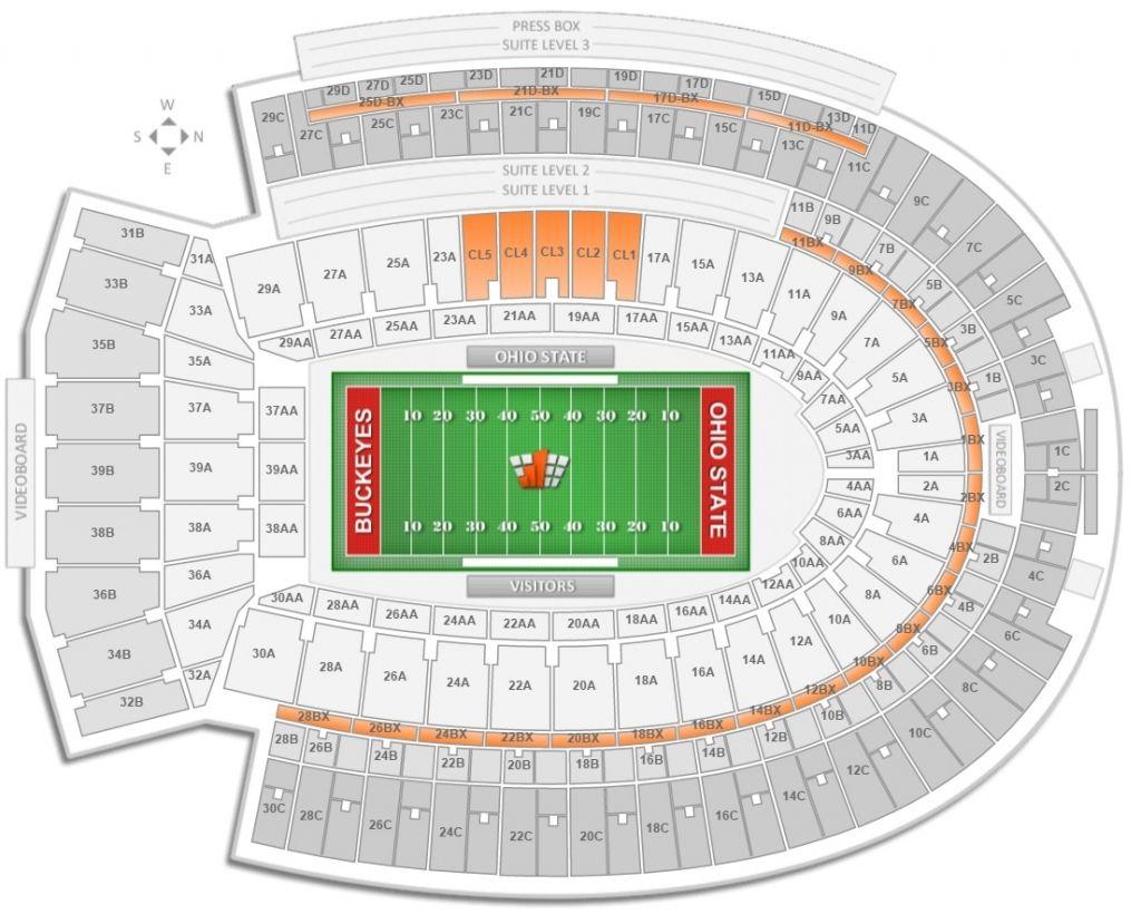 Ohio Stadium Virtual Seating Chart