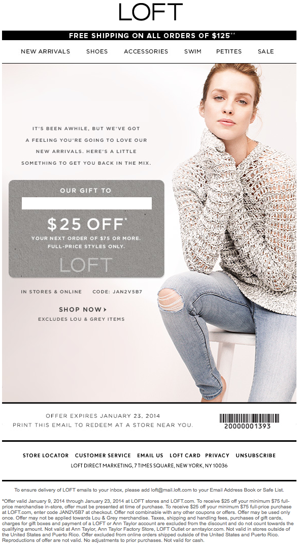 photo about Loft Coupon Printable referred to as Ann Taylor Loft coupon codes Printable Discount codes Printable
