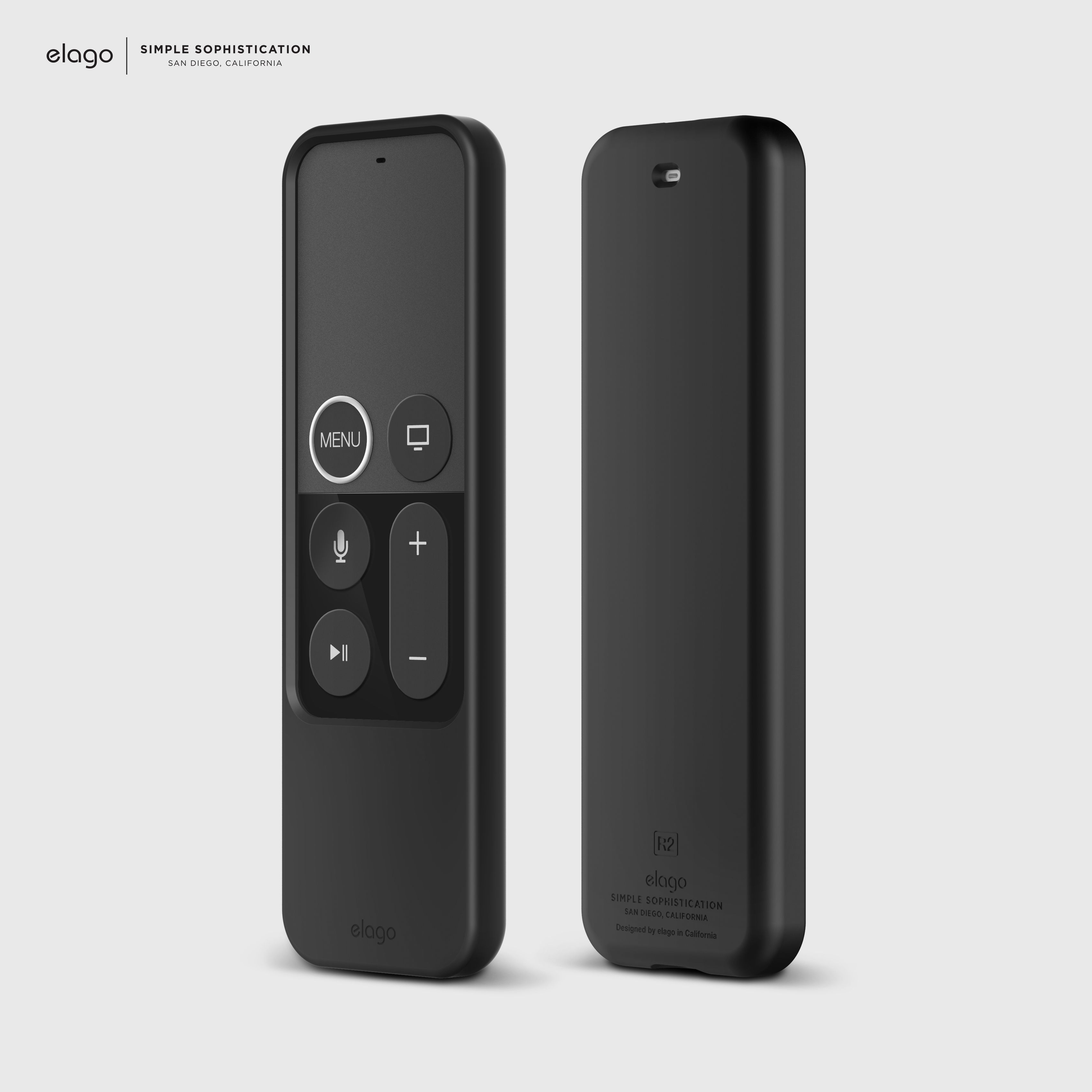 New, elago R2 Slim Case for Apple TV Siri Remote Black