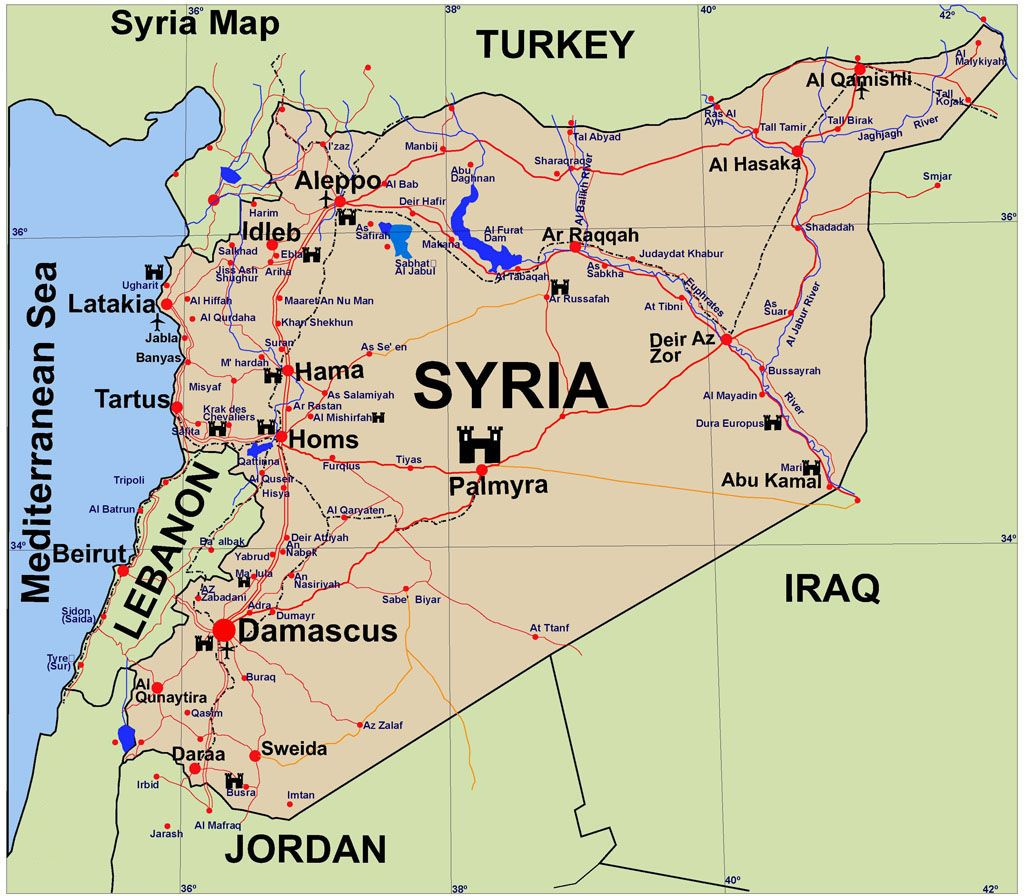 map of syria Google Search MAPS Pinterest Syria and City