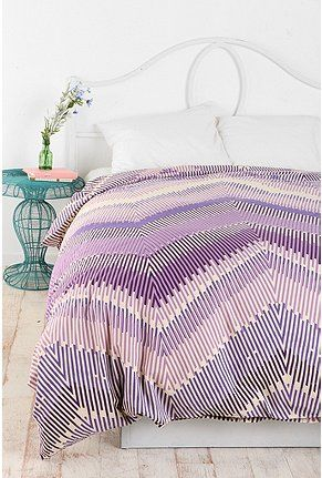 Magical Thinking Linear Chevron Duvet Cover Uohome