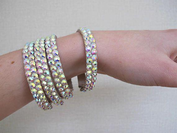 Dance Bracelet Ballroom Belly Bangle Crystal Rhinestone Dancesport Latin Jewelry
