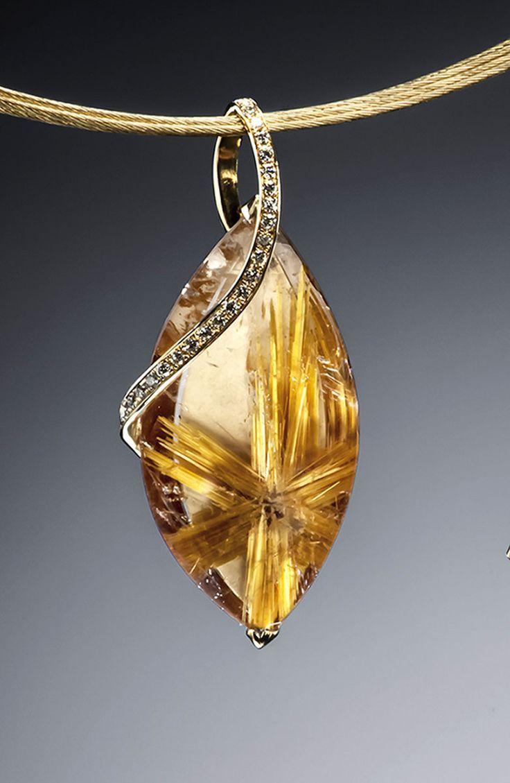 Little star rutilated quartz pendant rutilated quartz quartz and