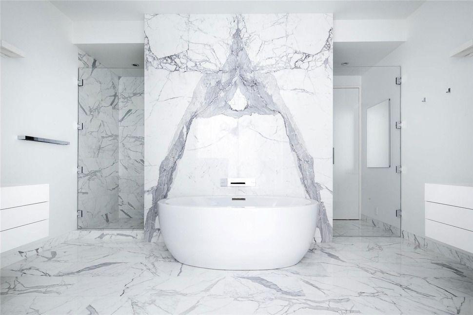 exotic look natural stone slab in the bathroom | Bathroom Designs ...