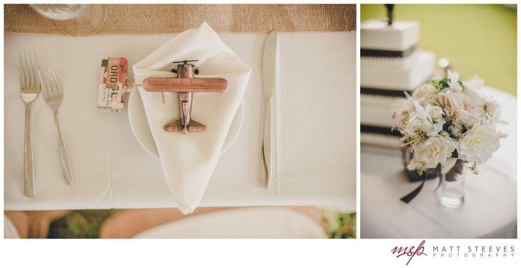 Airplane Wedding Favors Lindsay Rays Aviation Themed Edison Ford Winter Estates Designed By Courtney Shaw Fabulously Chic Weddings