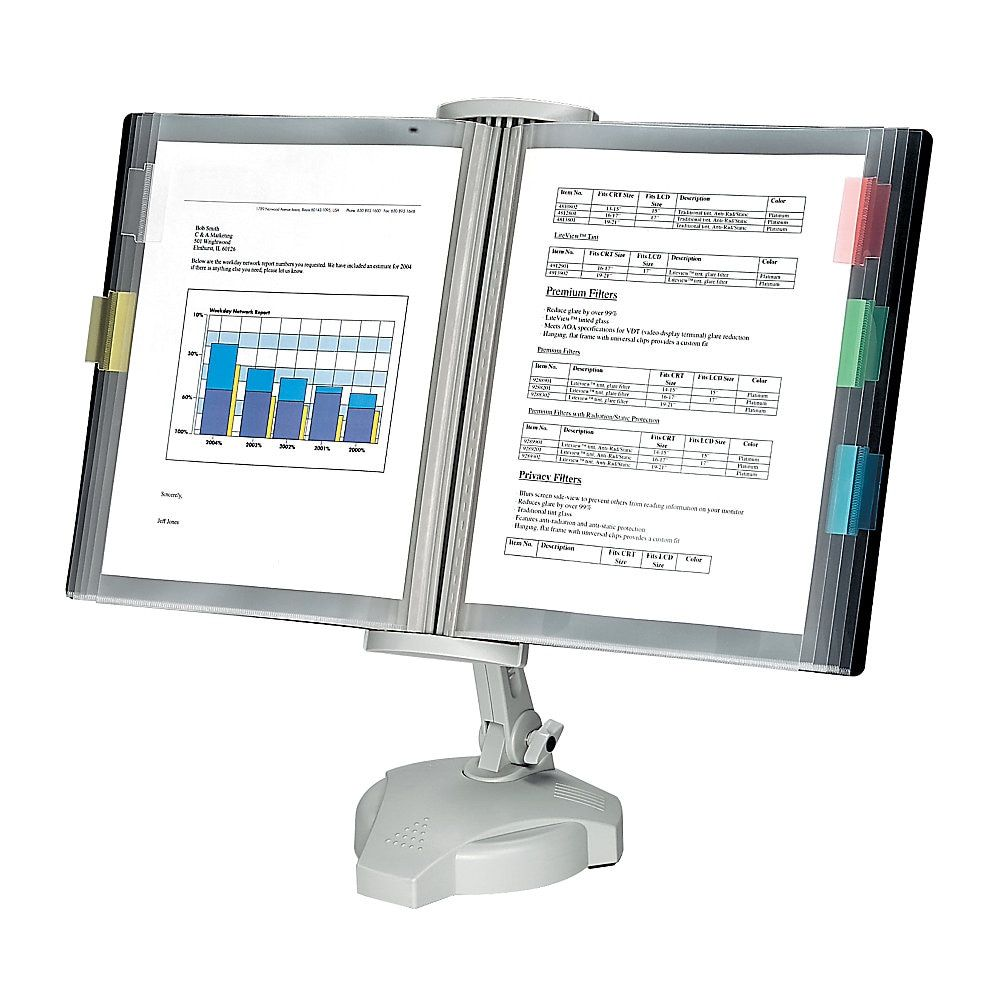 Fellowes Desktop Reference Rack, Platinum in 2020