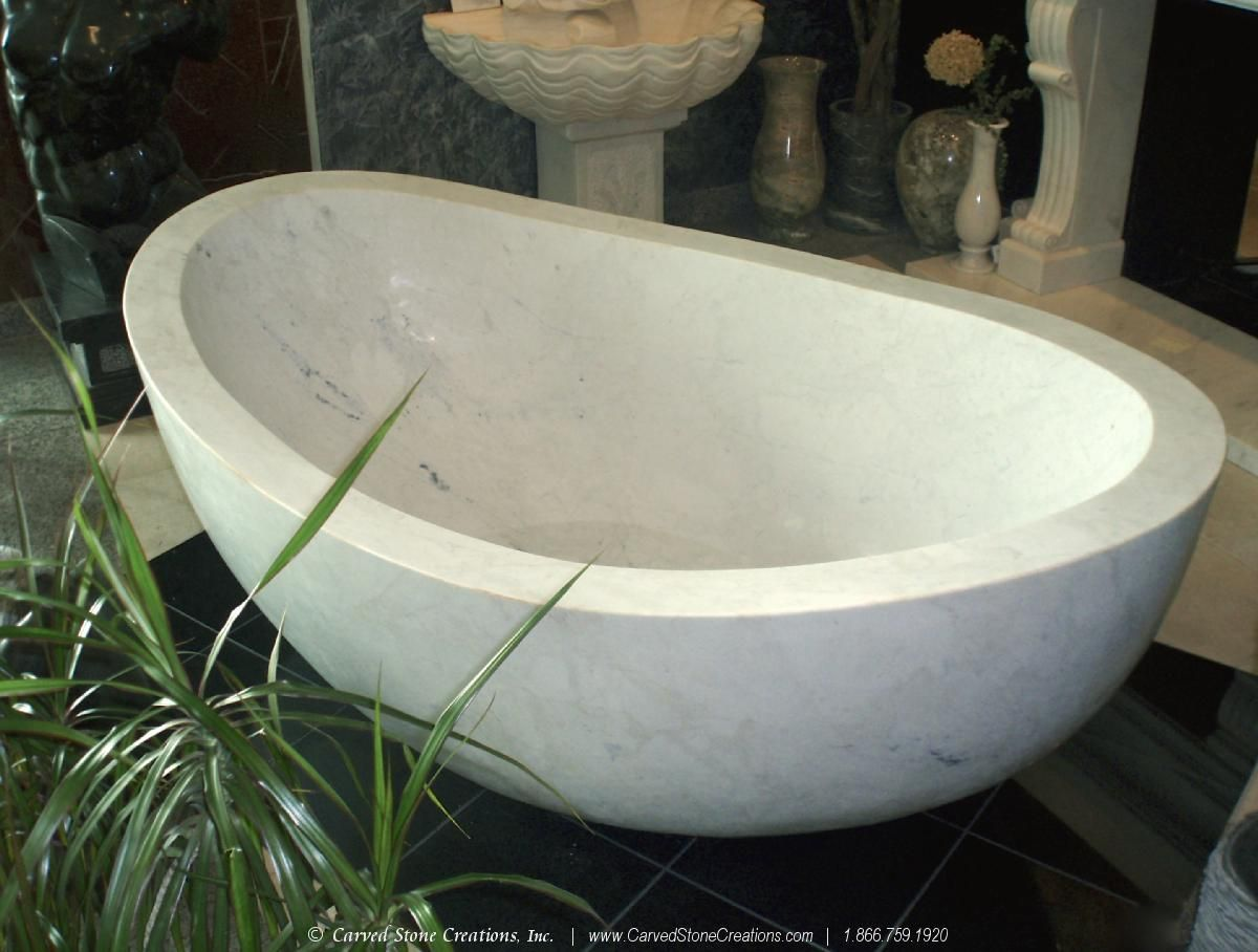 bathtub finished bath bespoke marble rectangular white carrara