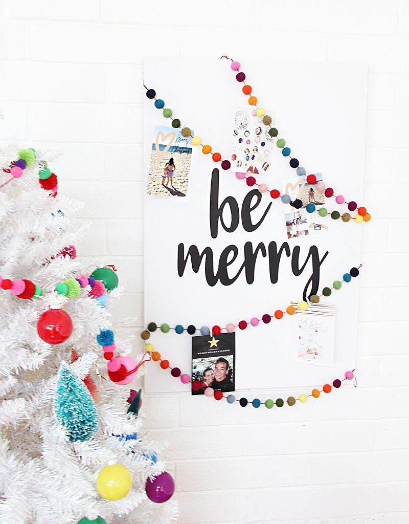 DIY Christmas Card Holder | Send christmas cards, Christmas cards ...