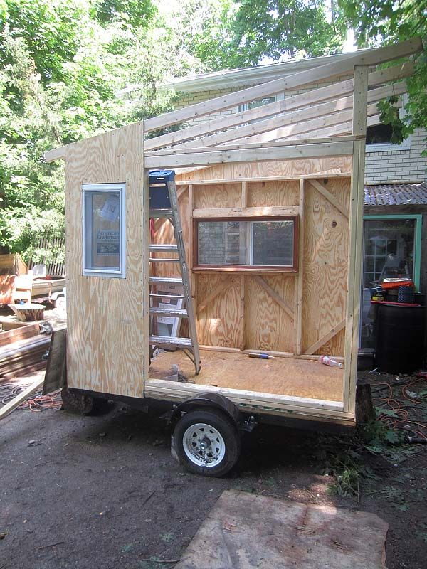 A Transforming Micro House Camper On Wheels Tiny House Camper Tiny House Trailer Tiny House Blog