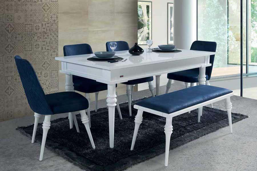 evmo riga salon masa sandalye takimi beyaz mobilya dekor tasarim