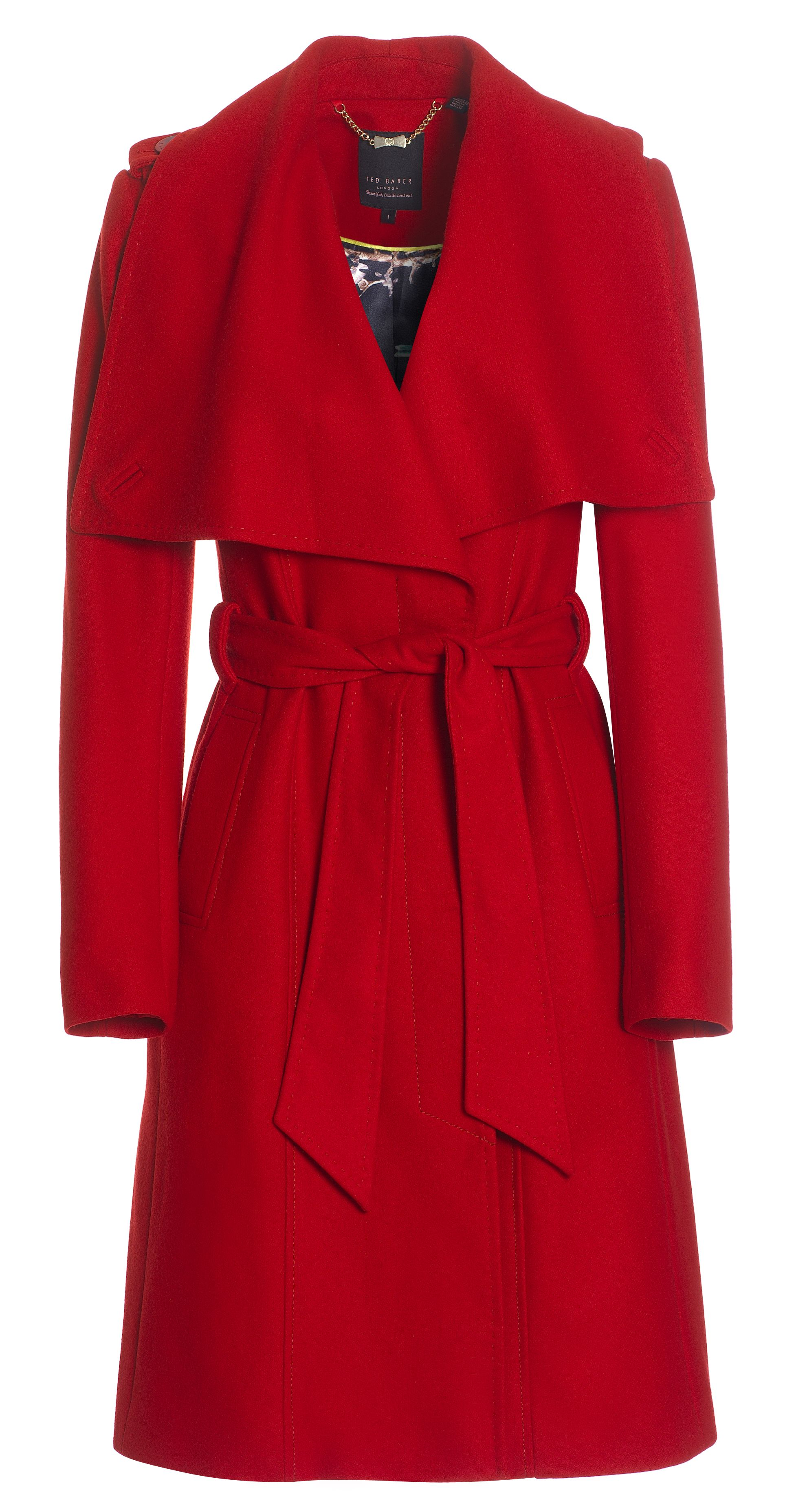 a297ac28868638 Ted Baker red belted coat