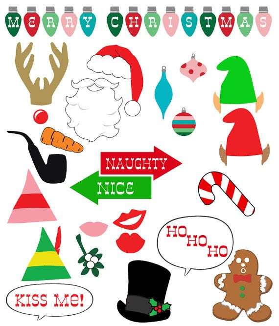 picture regarding Christmas Photo Props Printable titled Xmas Image Booth Props Do it yourself Printable down load pdf