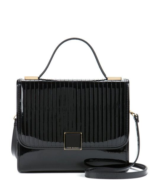 Quilted Top Handle Bag Black Bags Ted Baker Uk