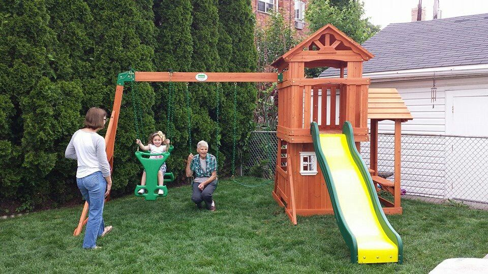 Backyard Discovery Tanglewood Playset from @Walmart installed in Glendale,  NY. - Backyard Discovery Tanglewood Playset From @Walmart Installed In