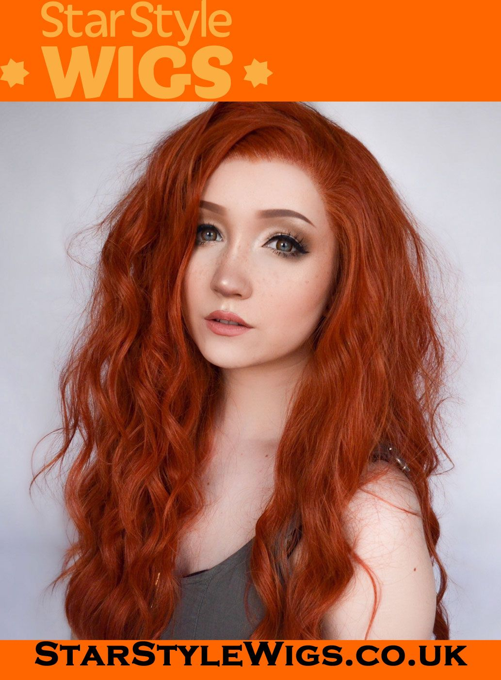 Ginger Lace Front Wig by Star Style Wigs. Glorious long wavy ginger lace  frontal made db2695c0cafb