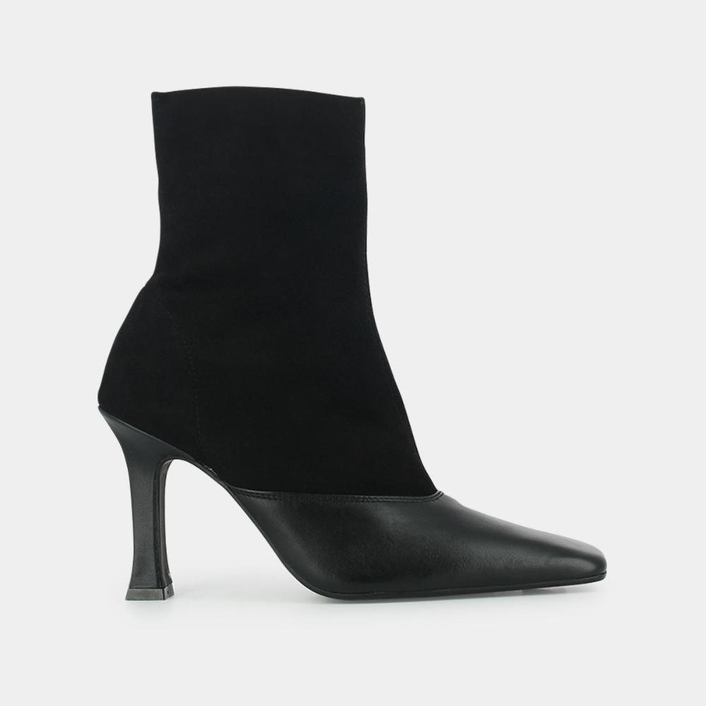 Boots en velours noir à talon haut Jonak noir | Talon haut