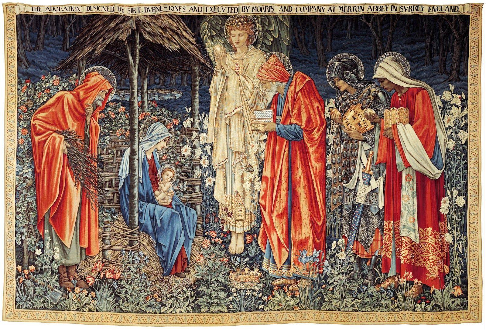 Edward burne jones 1901 prerrafaelita la adoraci n de for El rey de los azulejos