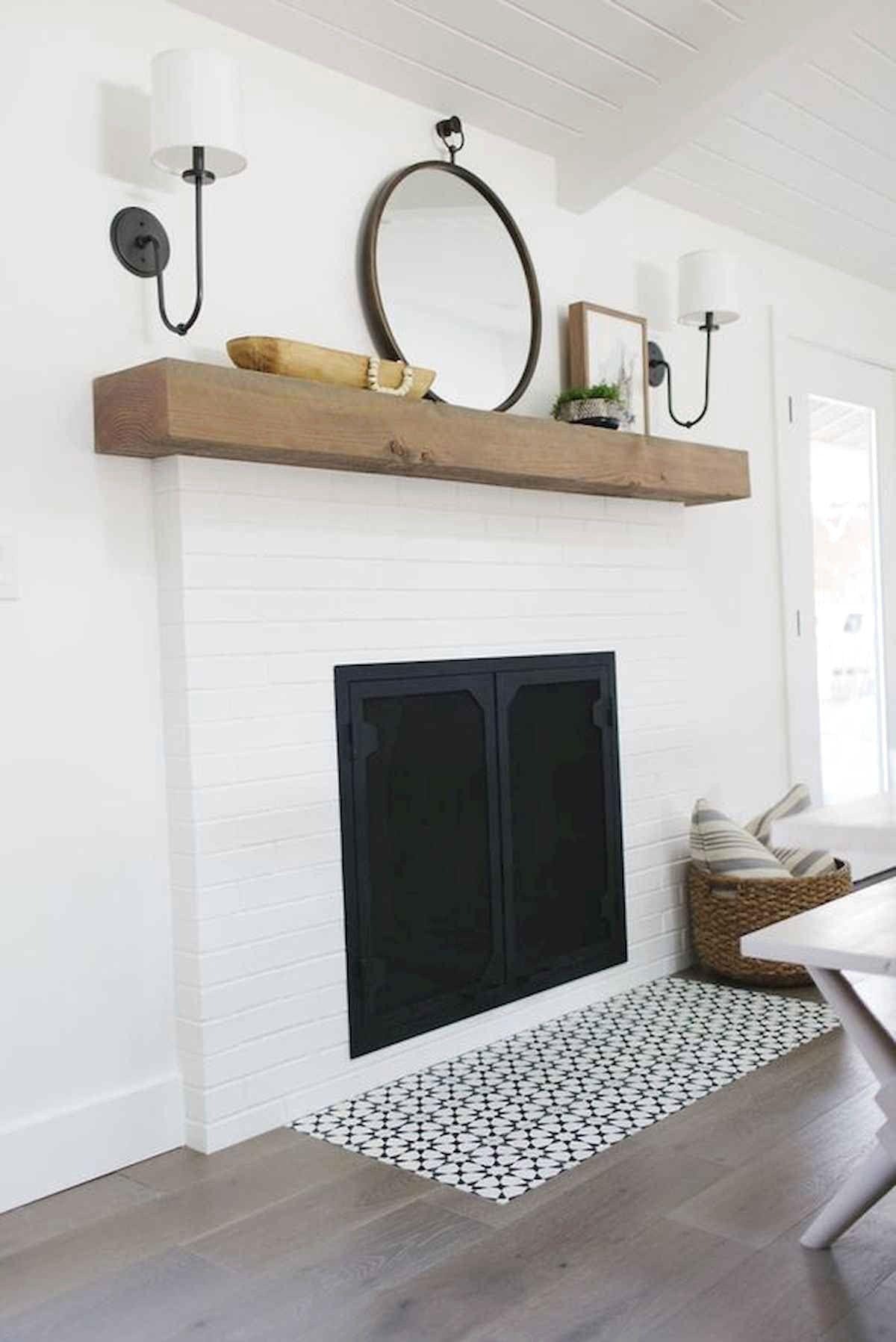 Best Modern Farmhouse Fireplace Mantel Decor Ideas Frugal Living White Brick Fireplace Modern Fireplace Decor Brick Fireplace Mantles