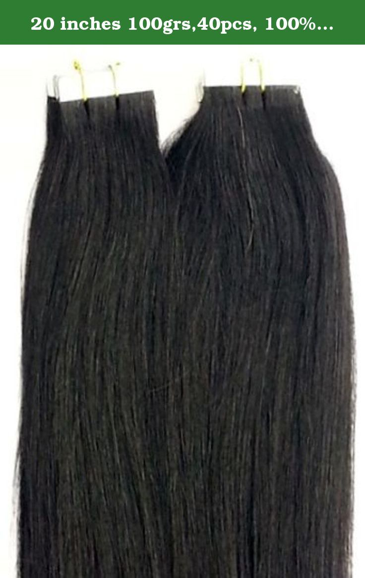 20 inches 100grs,40pcs, 100 Human Tape In Hair Extensions