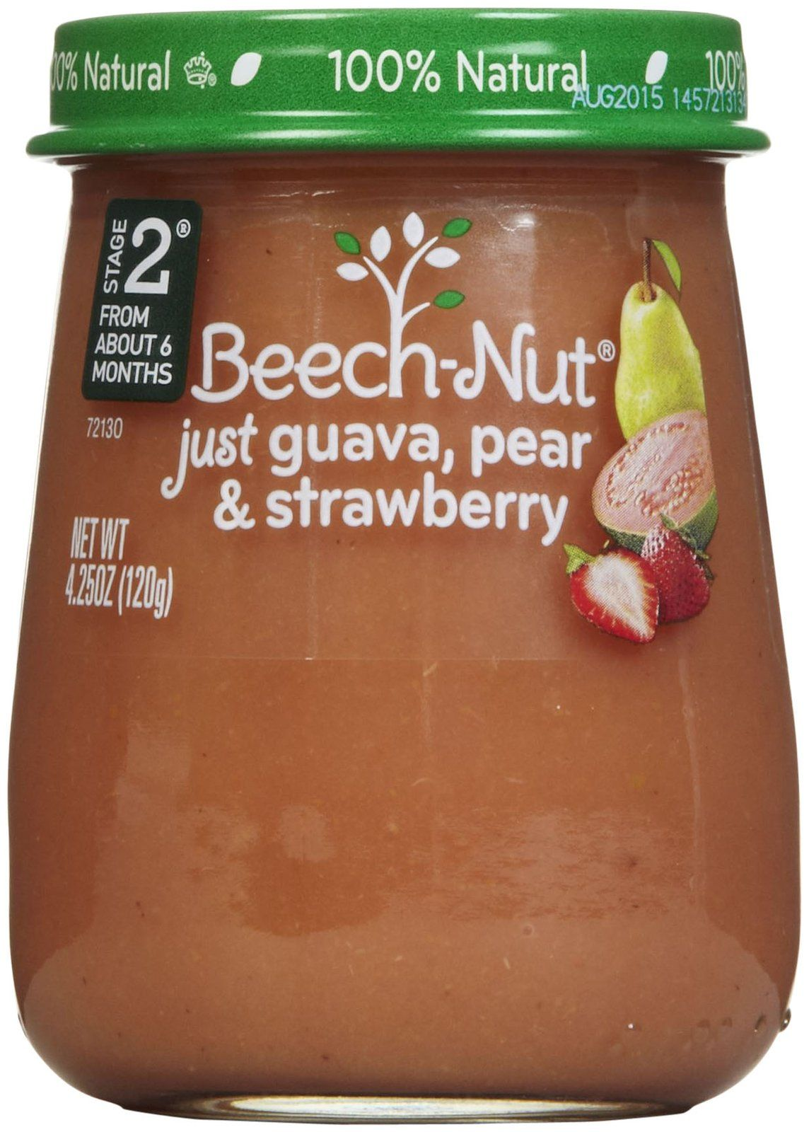 Beechnut stage 2 just purees guava pear strawberry