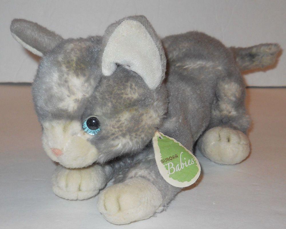 dd45c518ec84 Aurora Babies Gray Cat Plush Beanbag 11