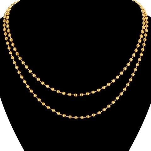 Vintage Multi-Layer Double Bead Chain Design Necklace For Women Men Wholesale  Gold Color Fashion Male Chains Jewelry 1418608d49d4