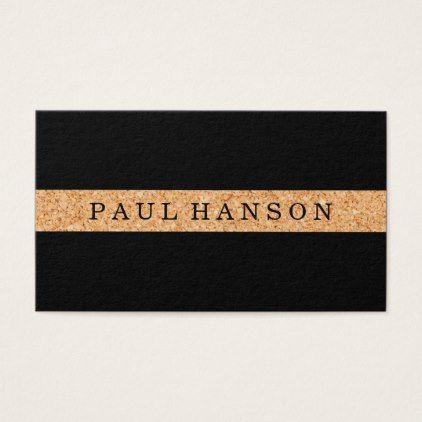Simple faux cork print business card reheart Images