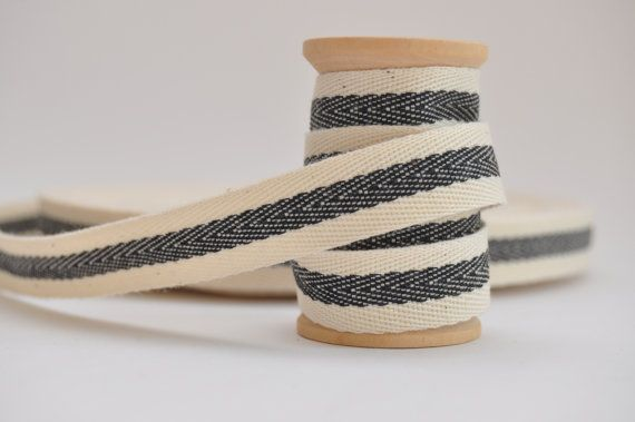 20mm White Herringbone Cotton Webbing Tape Sew Strap Bag Trim