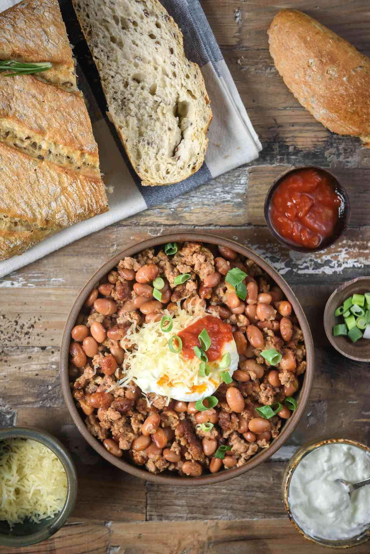 Crock Pot Chili Beans With Ground Beef Recipe In 2020 Ground Beef Slow Cooker Chili Crockpot