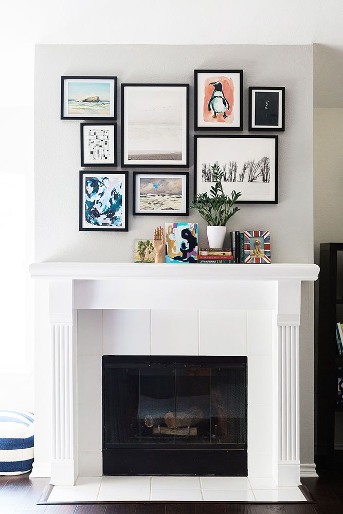 At home with  minted artist katie keyworth mantle artfireplace artwall fireplaceswhite fireplaceabove also best sweet images on pinterest future house rh