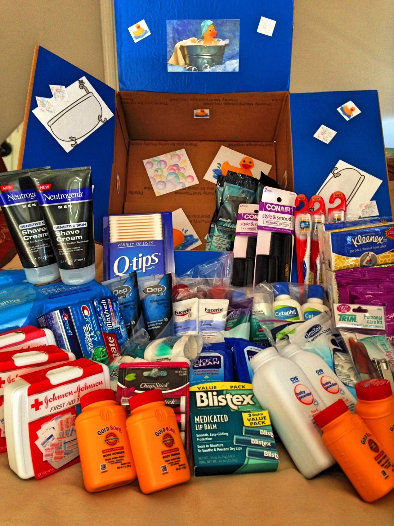 Perfect First Carepackage For Overseas Toiletry Care Package