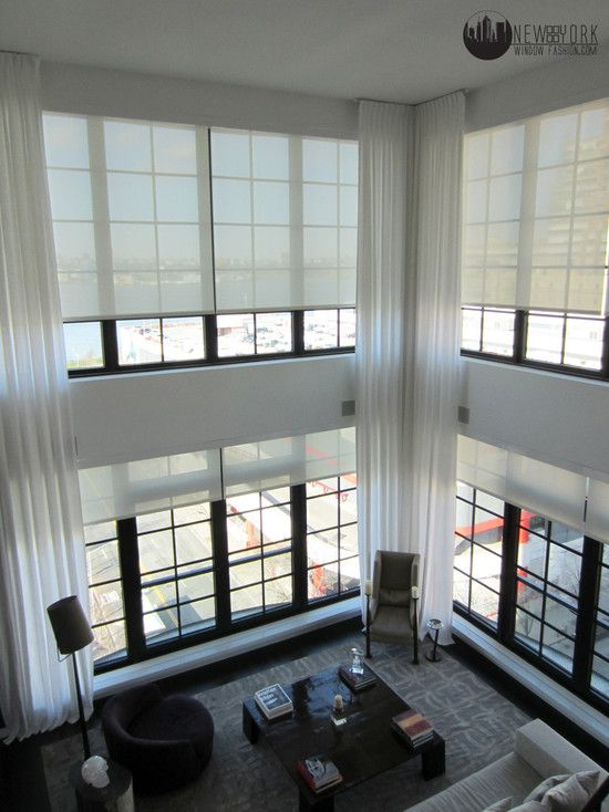 Perfect Example Of Motorized Roller Shades Twostory Rollershades