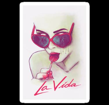 La Vida  Lolita sticker