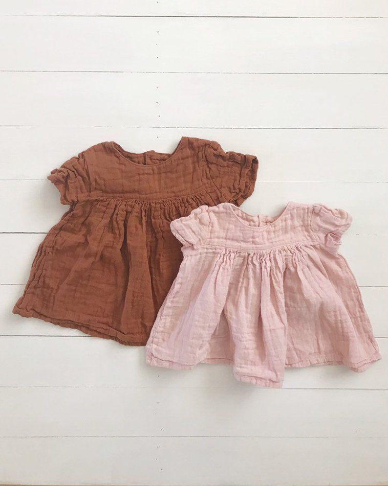 Baby Girls Clothes Summer Dress Flying Sleeve Newborn Infant Dresses Cotton Minn