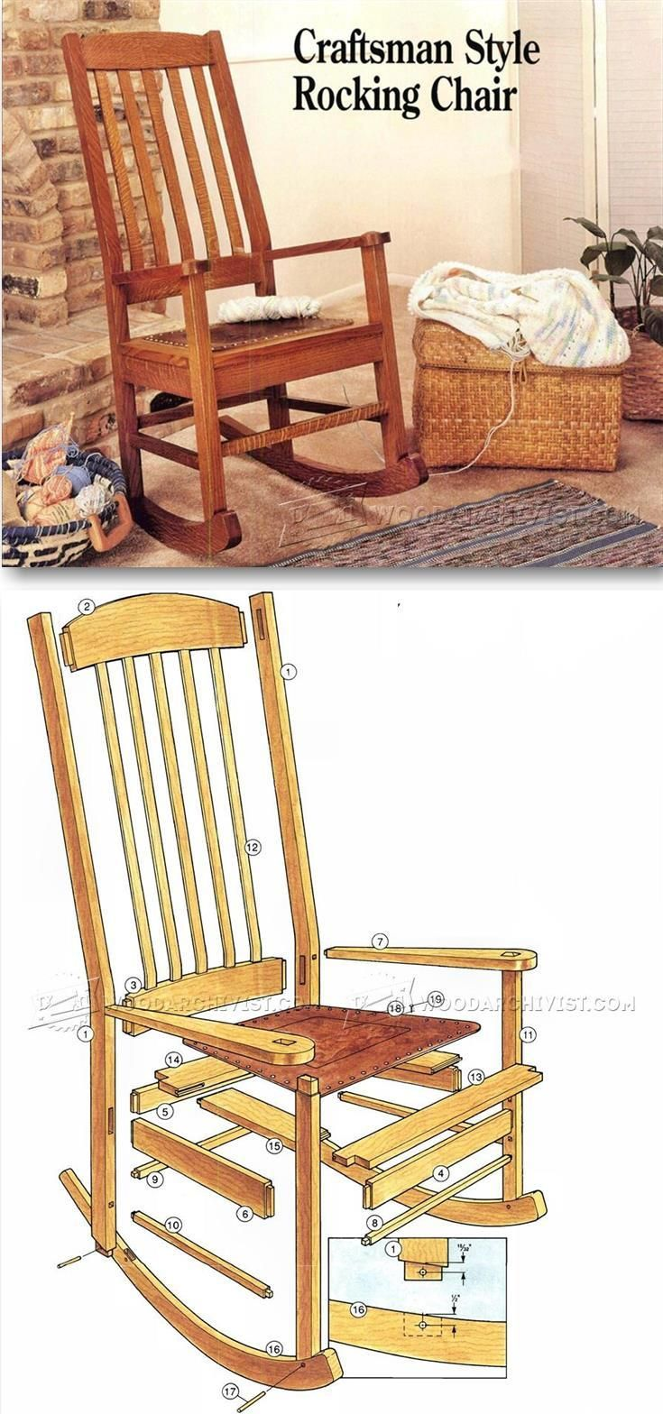 How to make a simple wooden rocking chair - Craftsman Rocking Chair Plans Furniture Plans And Projects Woodwork Woodworking Woodworking Plans Woodworking Projects