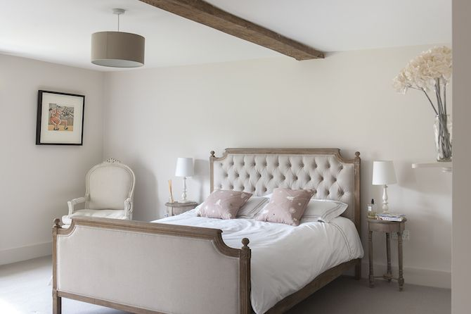Perrines French Style Is Hinted At In The Pale Pink Spare Bedroom Interiors WTinteriors